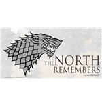 Poster Game Of Thrones North Remember On Glass