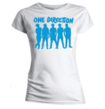 One DIRECTION: Silhouette Blue On White (T-SHIRT Donna )