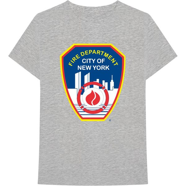 T-shirt New York City unisex - Design: Fire Dept. Badge
