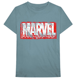 T-shirt Marvel Superheroes unisex - Design: Distressed Dripping Logo