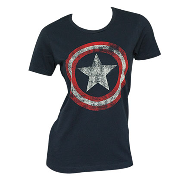 Originale Captain America Distressed Shield T Shirt Acquista rBoWEedCxQ