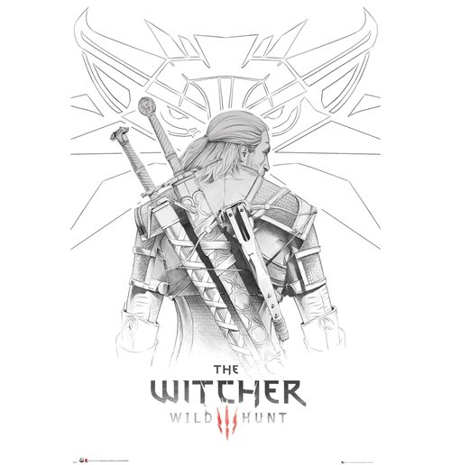 The Witcher : Geralt Sketch (Poster Maxi 61x91,5 Cm)