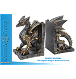 Fermalibri Steampunk Dragon Bookends