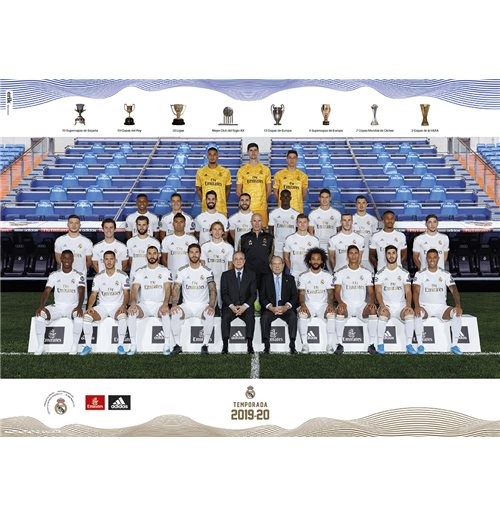 Real Madrid 2019/2020 Plantilla (Poster 50X70)