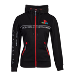 PLAYSTATION: Cut & Sew Black (felpa Con Cappuccio Donna )