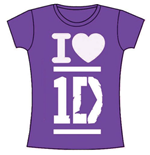One DIRECTION: I Love Purple (T-SHIRT Donna )