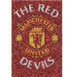 Poster Manchester United Red Devils Mosaic