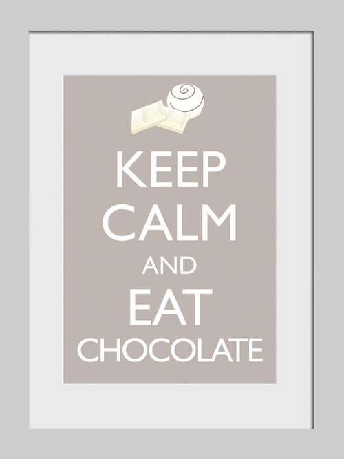 Foto keep calm and eat chocolate originale acquista for Keep calm immagini