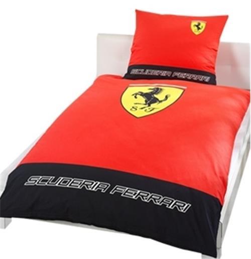 Copripiumino Ferrari.Acquista Parure Copripiumino Classic Logo Ferrari Originale