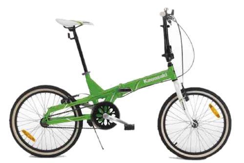 Bici Pieghevole Folding.Bicicletta Pieghevole Kawasaki Folding Bike In Alluminio Verde