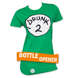 T-shirt Dr. Seuss Inspired Drunk 2 Bottle Opener da donna