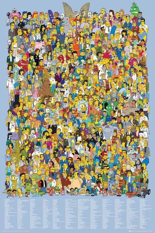 Poster I Simpson Cast 2012