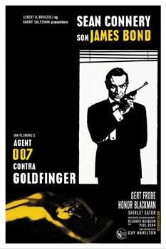 Poster James Bond - 007 Goldfinger