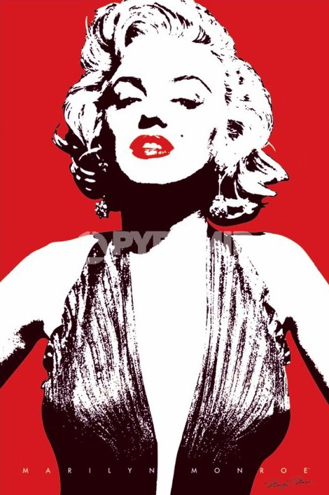 Poster Marilyn Monroe Red