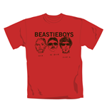 T-shirt Beastie Boys Red Faces. Maglia ufficiale Emi Music