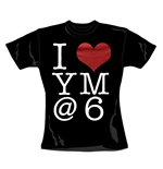 T-shirt You Me At Six I Heart. Maglia ufficiale Emi Music
