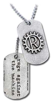Dog Tag / Piastrina Rage Against The Machine