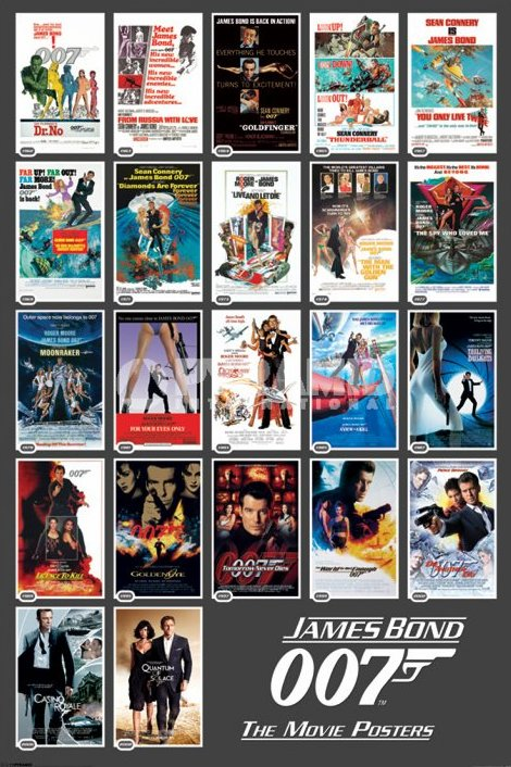 Poster James Bond 22 Movies
