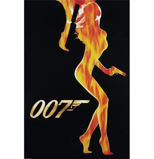 Poster James Bond Flame Girl