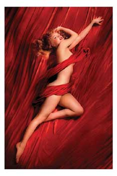 Poster Marilyn Monroe Red Silk