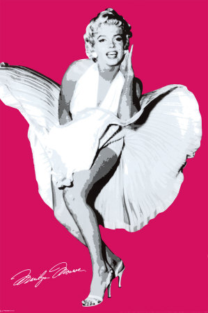 Poster Marilyn Monroe Seven Year Pink
