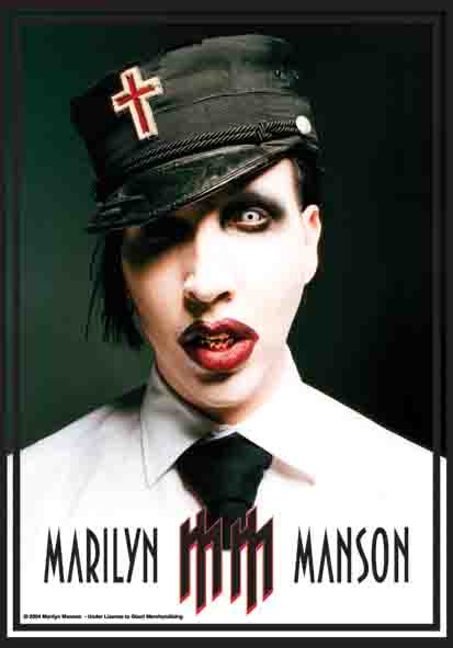 Bandiera Marilyn Manson - Mm Logo
