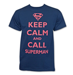 T-shirt Keep Calm and Call Superman