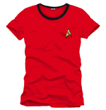 T-shirt Star Trek Uniform red