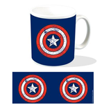tazza Marvel Captain America con logo Shield