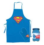 Image of grembiule e guanto da cucina con logo Superman