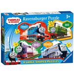 Image of Ravensburger 07078 - Puzzle Da Pavimento 24 Pz - Thomas And Friends - 4 Puzzle Sagomati