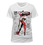 Image of Dc Comics - Harley Quinn - Comic White Design (T-SHIRT Unisex )
