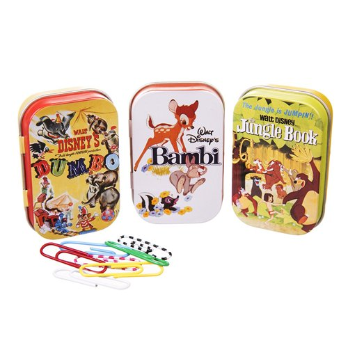 Pack 3 caixas de metal Disney Classic - Classic Film Posters Yellow
