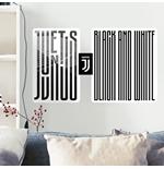 Image of Sticker Murale Juventus Adesivo Grafico