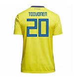 Image of Maglia 2018/19 Svezia calcio 2018-2019 Home (Toivonen 20) da bambino