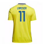 Image of Maglia 2018/19 Svezia calcio 2018-2019 Home (Larsson 11) da bambino