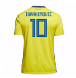 Image of Maglia 2018/19 Svezia calcio 2018-2019 Home (Ibrahimovic 10) da bambino