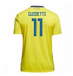 Image of Maglia 2018/19 Svezia calcio 2018-2019 Home (Guidetti 11) da bambino