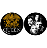 Image of Queen - Crest & Faces (Tappetino Per Giradischi)